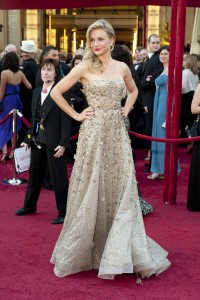 Luxury Good Branding at the Oscars: Cameron Diaz wearing Oscar de la Renta (2010). Courtesy of A.M.P.A.S.