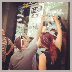 Erase Bulling Window at the Santa Monica store. Source: Lush Facebook