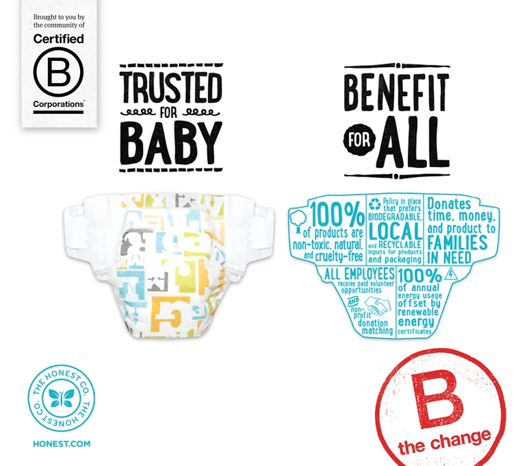 Source; http://bcorporation.eu/b-the-change/ads/the-honest-company